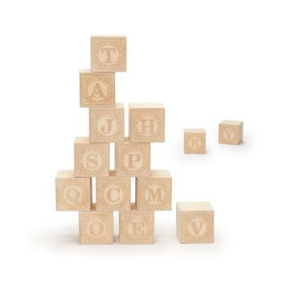 $16.49 • Buy Uncle Goose Uppercase Alphablank Blocks - Made In USA