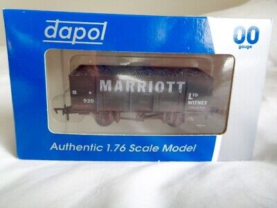 Dapol 'Marriott' 20 Ton Steel Mineral Wagon With Coal Load. Weathered. B887W. • 12.99£