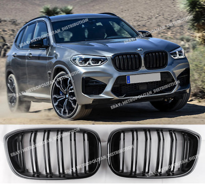 AU179.25 • Buy BMW G01 X3 2017 Double Bars X3M M Performance Competition Grilles,Gloss Black