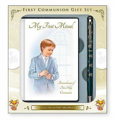 Boys First Holy Communion Gift Set Book And Pen  • 17.95£