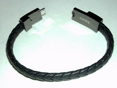 $11.99 • Buy Auzev Micro USB Charging Cable Bracelet Fashion Wrist Data Charger Cord Leather