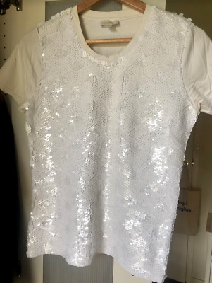 AU15 • Buy Witchery Sequin Top - White - Size 10 M