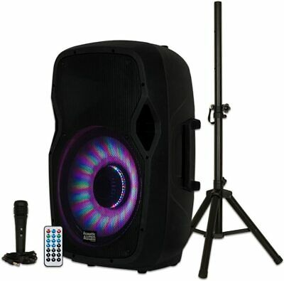 $189.95 • Buy New Bluetooth 1000 Watt 15  Woofer PA Speaker System MIC FM USB/SD AUX EQ Stand