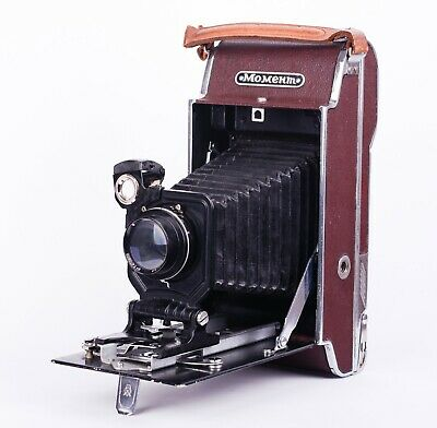 $ CDN492.66 • Buy Russian Vintage Photo Camera Moment Collectible Folding Film Soviet USSR Case