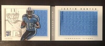 $9.99 • Buy Justin Hunter 2013 Playbook Booklet /199 Dual Relic Patch RC Titans Tennessee