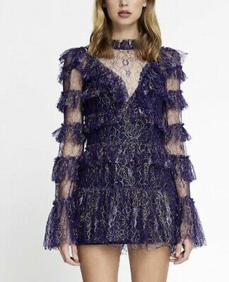 AU140 • Buy Alice Mccall NWT Foiled Zen Dress Size 4 Tag $450 (Fits Size 6)