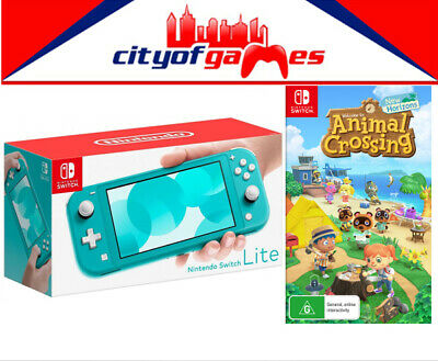 AU439.95 • Buy Nintendo Switch Lite Console - Turquoise & Animal Crossing: New Horizons Game