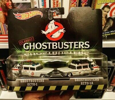 *hot Wheels Ghostbusters Ecto-1/ecto-1a Classic Twin Pack-mint* • 20£