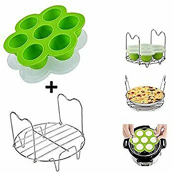 $29.82 • Buy Instant Pot Accessories, Silicone Egg Bites Molds And Steamer Rack With Handles