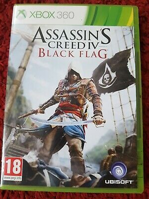 XBOX 360 Game ASSASSIN S CREED BLACK FLAG. Pre Owned. Slight Mark On Case • 0.50£