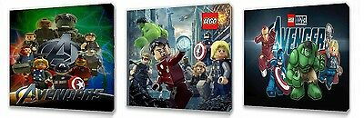 £9.99 • Buy Lego Avengers  Set Of Three Wall / Plaques Canvas Pictures