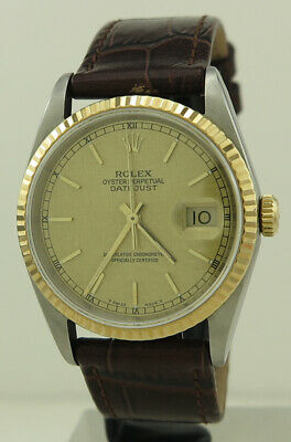 AU6600 • Buy Rolex 16233 Steel And 18k Gold 36mm Gold Satin Dial Oyster Perpetual Datejust