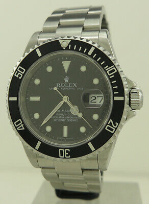 AU12800 • Buy Rolex Ref 16610 Steel Auto 40mm Black Dial Oyster Perpetual Submariner Date