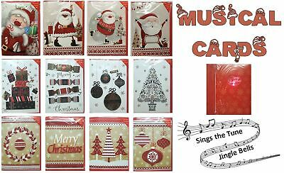 Musical Christmas Cards Light Up With Envelopes Premium Luxury Stationary Party • 2.89£