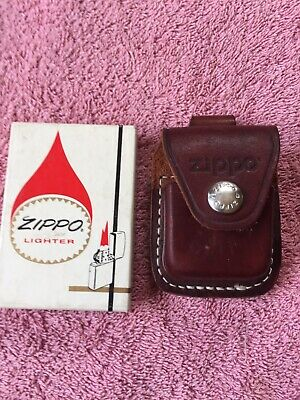 $10.50 • Buy Vintage Zippo Box & Leather Pouch Both Empty