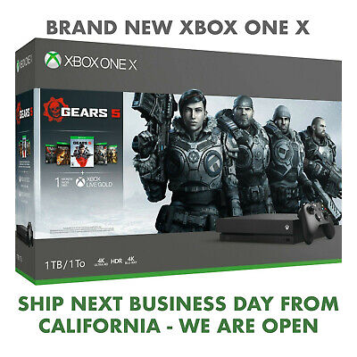 $374.99 • Buy BRAND NEW  Microsoft XBox One X 1TB Gears 5 Bundle CYV-00321 FREE FAST SHIPPING
