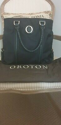 AU49.99 • Buy Oroton Journey Medium Black Leather Tote Bag – Excellent Condition