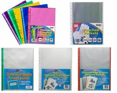 £6.95 • Buy Punched Pockets Filing Clear Display Sleeves Ring Binders - A4, A3, A2, A1 Sizes