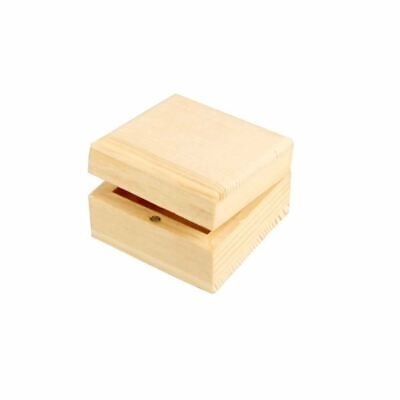 Creativ Jewellery Box Wooden Small Square With Magnetic Clasp Keepsakes • 3.51£