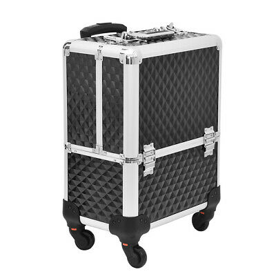 $52.99 • Buy Professional Rolling Makeup Case Cosmetic Train Case Rolling Organizer Trolley