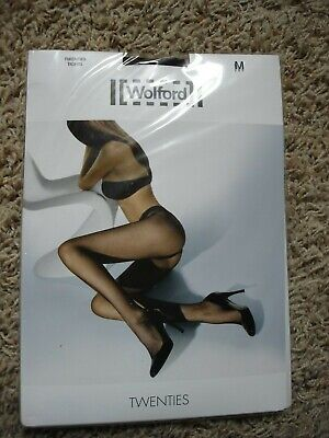 NWT Wolford Twenties Tights Made In Austria Black Size M NEW • 21.46£