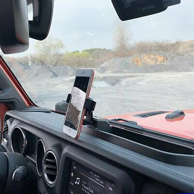 $31.20 • Buy Dash Tray Mount Phone Holder With Storage Box For 2018-2019 Jeep Wrangler JL