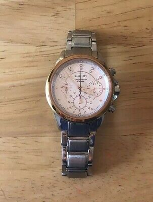 $ CDN140 • Buy Seiko Women's Quartz Chronograph Rose Gold Watch