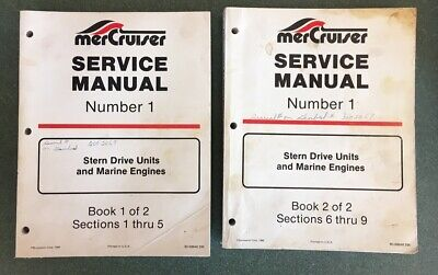$4.99 • Buy Mercruiser Service Manual #1 Book 1&2 Marine Engines And Stern Drive Shop Manual