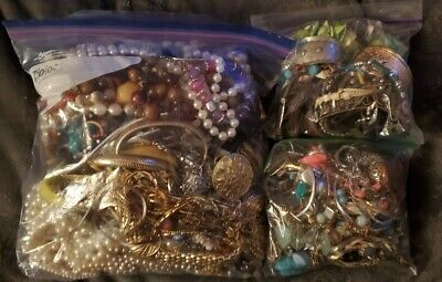 $ CDN42.31 • Buy Hyge Lot Of Vintage To Now Jewelry, 3 Bags, 9lbs