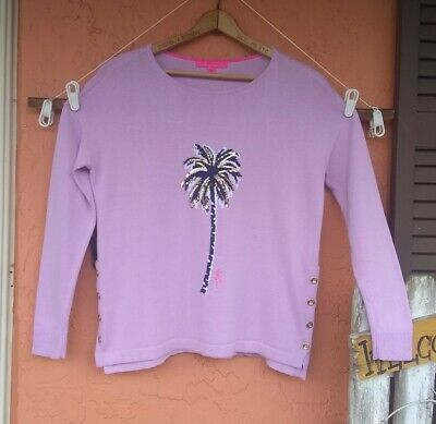 $15 • Buy Lilly Pulitzer SEQUINED Pull Over Sweater Small
