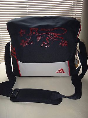 $49.99 • Buy Adidas Sport Flap Shoulder Bag SACS Messenger Navy Blue Red White Laptop Sleeve
