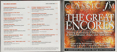 CD  - THE GREAT ENCORES - SHOW STOPPING PIECES - CLASSIC FM - MINUTE WALTZ Etc • 2.99£