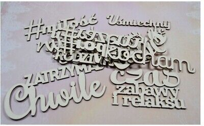 Polish Words Set Family Chipboard Die Cut-out Wooden Craft Shapes Embellishment • 6.90£