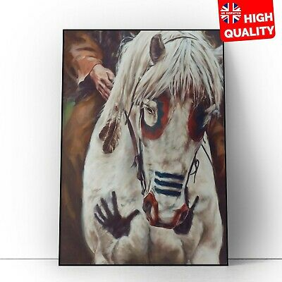£7.99 • Buy Native American Indian War Horse Art Picture Vintage Poster | A5 A4 A3 A2 A1 |