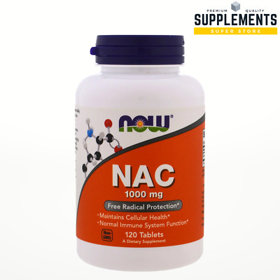 AU48.95 • Buy N-Acetyl-L-Cysteine 1000 Mg 120 Tabs Now Foods, NAC I