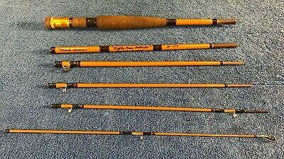 $50 • Buy Handcrafted 6 Piece Fiberglass Travel Fly Rod , 75 - 7-8 WF- Lefty Kreh Attache