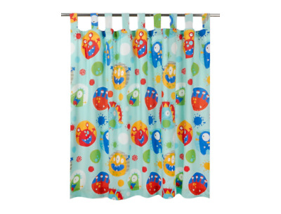 George Little Monster Curtains Tab Top Lined 66 X 54 Inch New • 14.99£