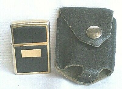 $17 • Buy Vintage   ZIPPO LIGHTER  J XV    Brass   With Leather Pouch Advertising DODSON'S
