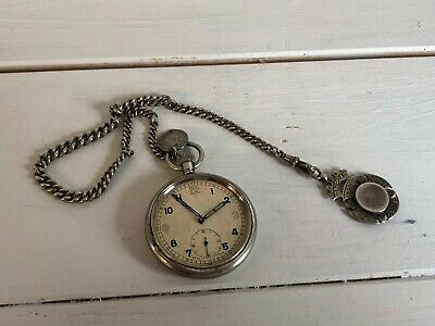 Raf Observer's Pocket Watch Am 6E/50 WWII, With Silver Chain • 175£