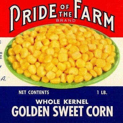 Carville sugar corn can label C.W Baker /& Sons Aberdeen MD