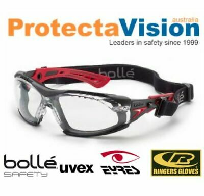 AU19.80 • Buy NEW Bolle Safety Rush Plus Seal Safety Glasses Anti-Fog Clear Lens