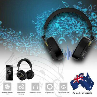 AU29.88 • Buy BluedioT5 Bluetooth Headphones Wireless Noise Cancelling Stereo Headsets OverEar