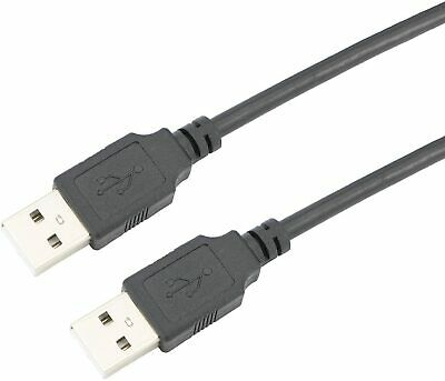 AU5.90 • Buy 2m USB 2.0 A/m To A/m Laptop & PC HUB Extension Link Data Cable Black Brand New
