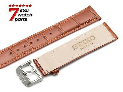 £11.90 • Buy For SEIKO Watch BROWN Leather Strap Band Buckle Clasp Grand Diver 18-24mm