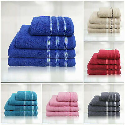 Egyptian Cotton Bathroom Towels Premium Super Soft Hand Face Gym Towel Gift Set • 5.51£