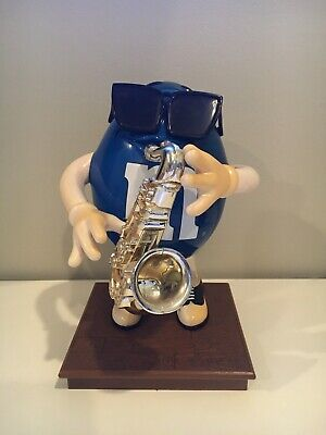 $20 • Buy M & M Candy Dispenser Blues Cafe Saxophone Player Limited Edition! 10  Tall! MM2