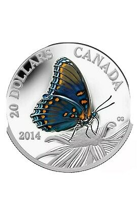 $43 • Buy 2014 Canada $20 Red Spotted Purple Butterfly Coin