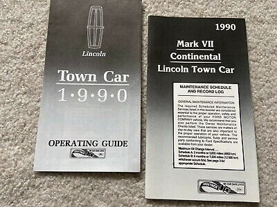$14.95 • Buy 1990 Lincoln Town Car Quick Reference & Maintenance Owners Manual SUPPLEMENTS