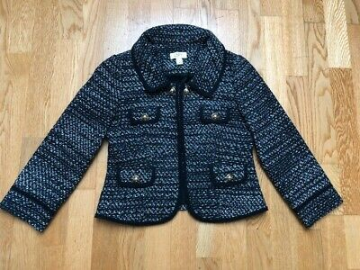 £8 • Buy Chanel Style Tweed Jacket   Black And White Classic
