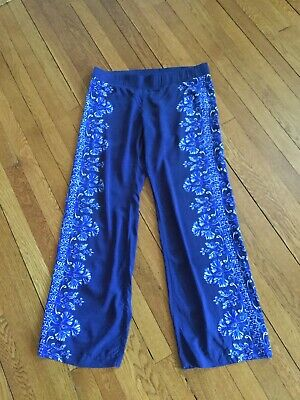 $29 • Buy Lilly Pulitzer Womens L Navy Blue 33  Bal Harbour Palazzo Pants $128 PreOwned